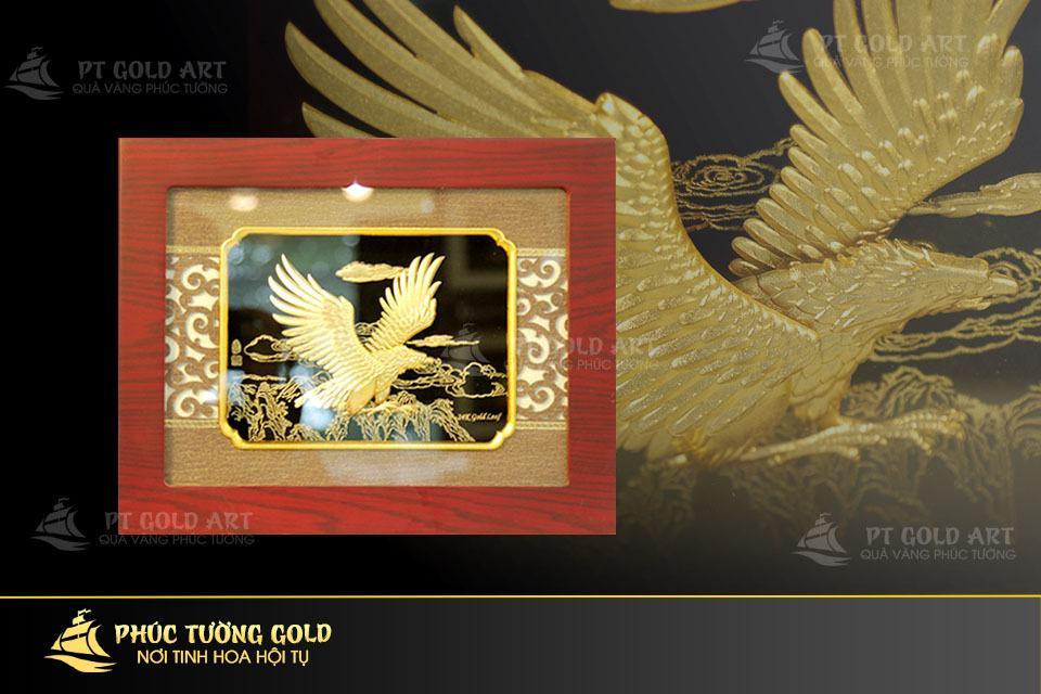Tranh Đại Bàng tung cánh dát vàng 24k