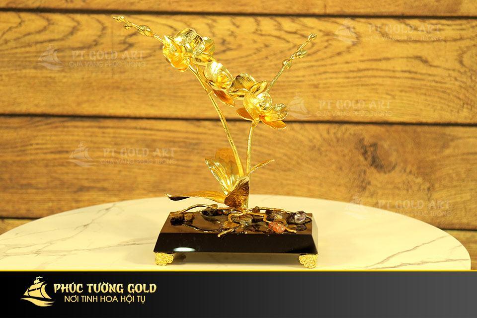 Cây hoa Lan Hồ Điệp mạ vàng 24k