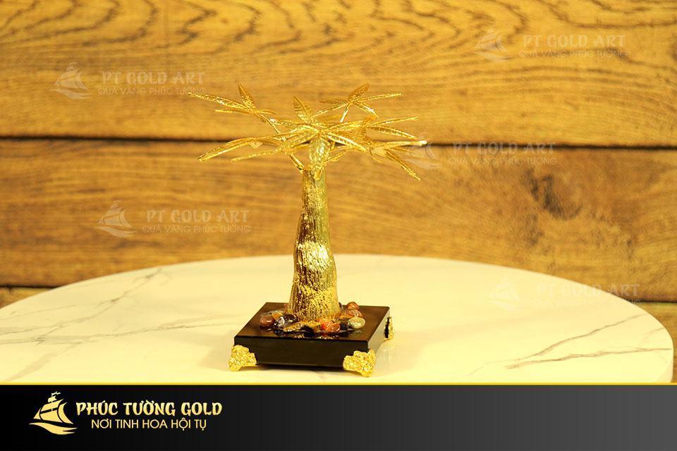 Cây Kim Ngân phong thủy mạ vàng