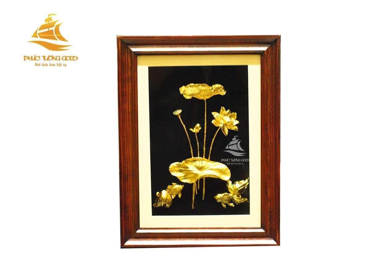 Tranh hoa Sen 3D phong thủy