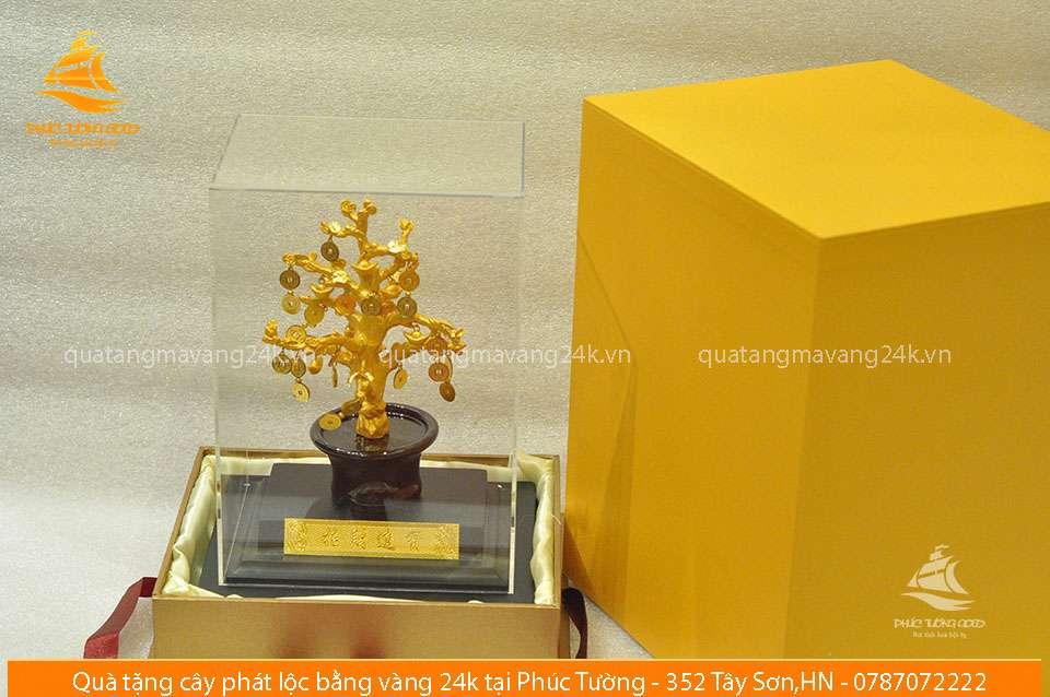 Cây phát lộc bằng vàng 24k - Quà tặng mạ vàng 24k