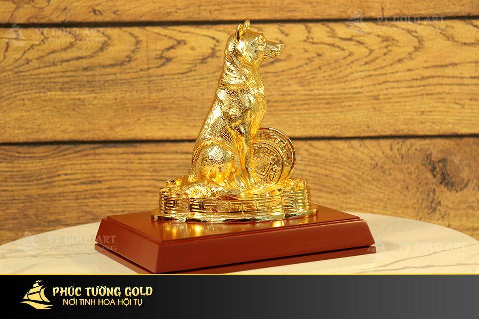 Tượng Chó phong thủy mạ vàng