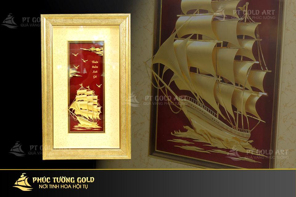 Tranh thuận buồm xuôi gió mạ vàng mẫu 3